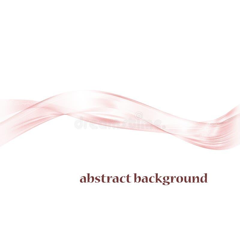 Onda cor-de-rosa abstrata do swoosh para o fundo do casamento ilustração do vetor
