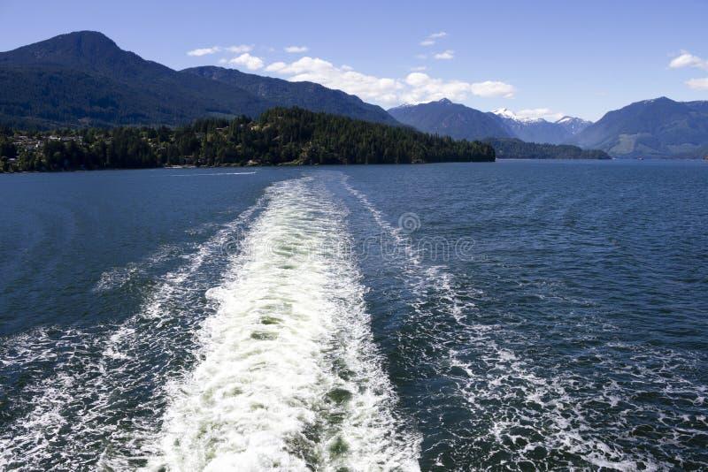 Onda da balsa de Howe Sound imagem de stock
