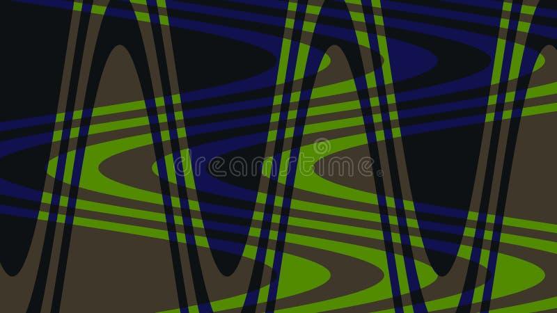 Onda da foto de cores verdes, escuras, azuis! Original, excepcional, extraordinário, proeminente, surpreendendo, fundo proeminent ilustração do vetor