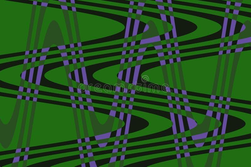 Onda da foto de cores verdes, violetas, escuras! Original, excepcional, extraordinário, proeminente, surpreendendo, fundo proemin ilustração do vetor