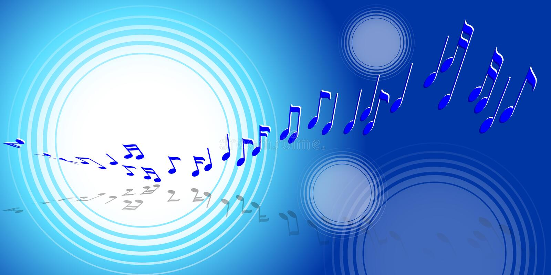 Onda da música ilustração royalty free