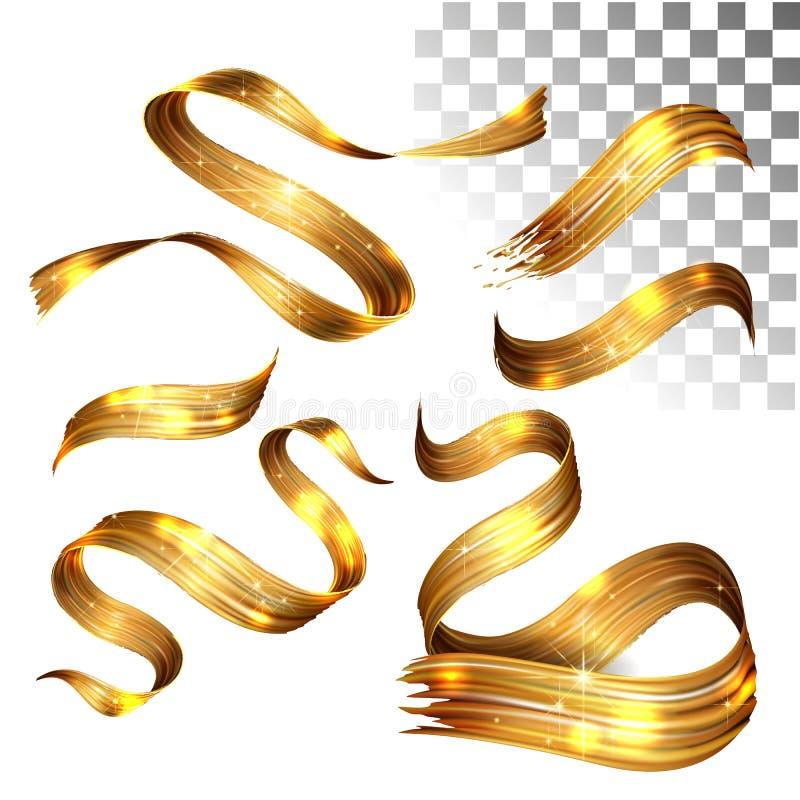 Onda da pintura do vetor 3D Curso espiral abstrato da escova Forma de fluxo da fita Tinta líquida de Digitas Onda artística dinâm ilustração do vetor