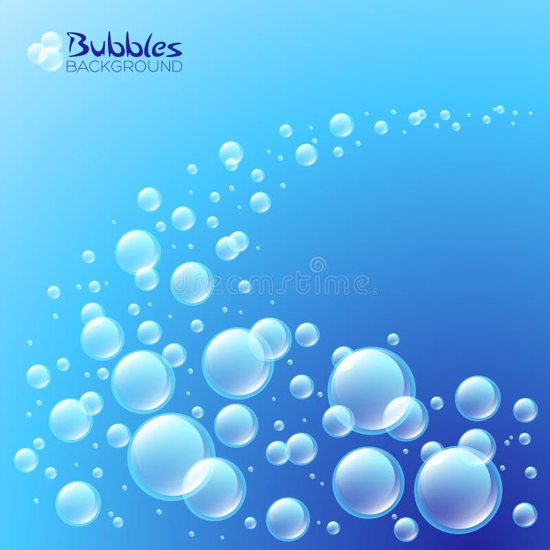 Onda das bolhas ilustração stock
