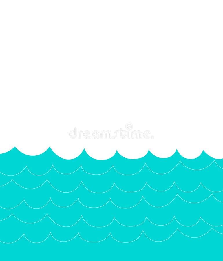 Onda de água com bolhas ilustração royalty free