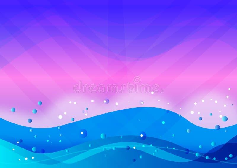 Onda de agua stock de ilustración