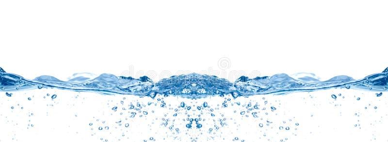 Onda de agua azul fotografía de archivo