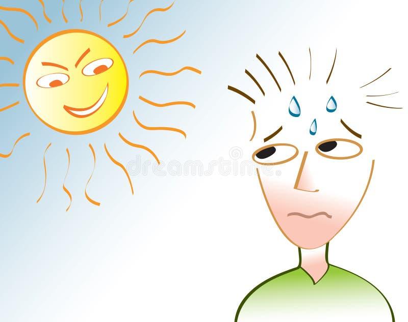 Onda de calor ilustração stock