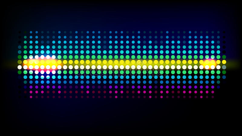 Onda de Dot Sound ilustração stock