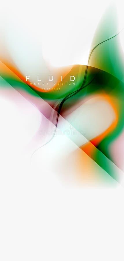 Onda de fluxo da cor, molde líquido na moda do projeto ilustração do vetor