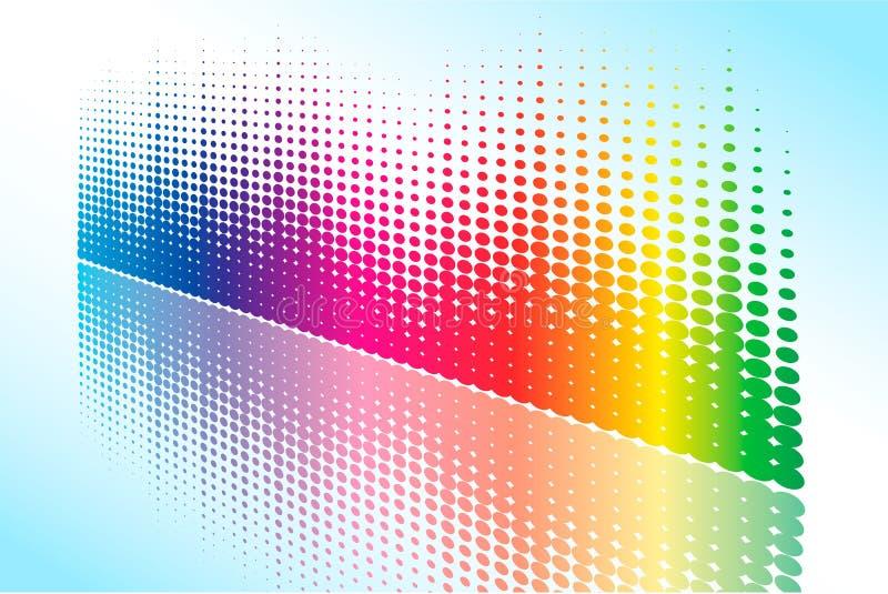 Onda de intervalo mínimo abstrata do arco-íris ilustração do vetor