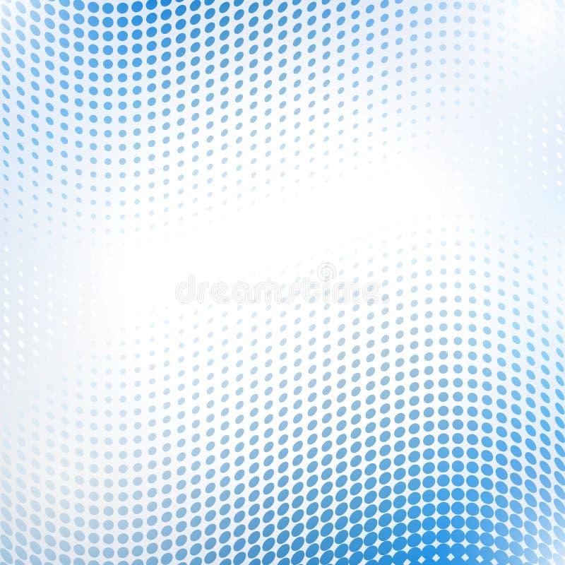 Onda de intervalo mínimo abstrata no azul ilustração do vetor