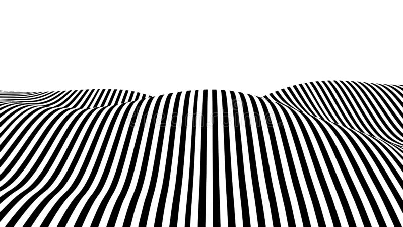 Onda de la ilusión óptica stock de ilustración