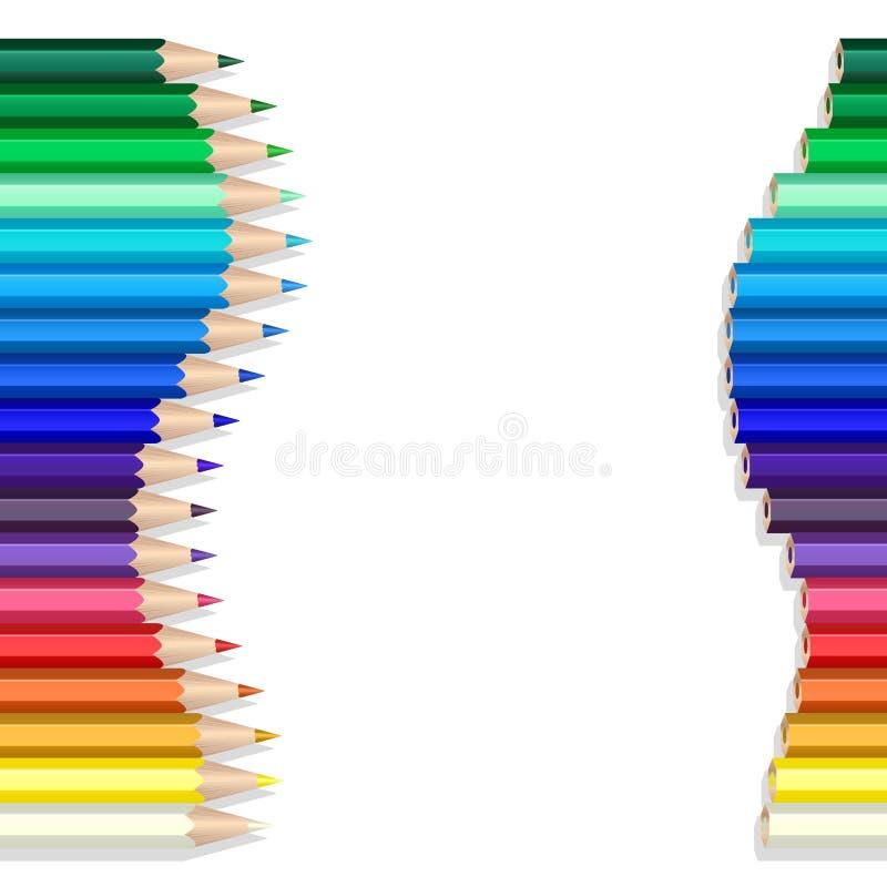 Onda de los lápices del color libre illustration
