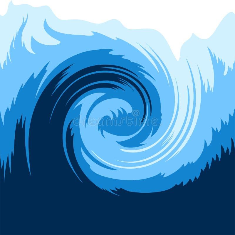 Onda de oceano ilustração stock