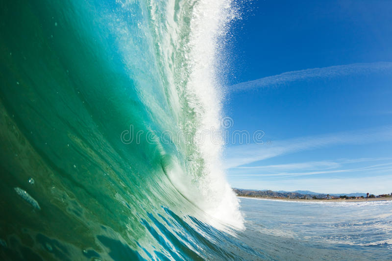 Download Onda de oceano azul foto de stock. Imagem de tambor, fresco - 22997924