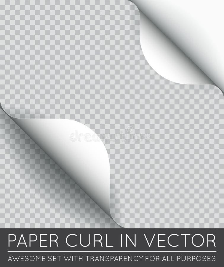 Onda de papel da página do vetor com a sombra isolada ilustração do vetor
