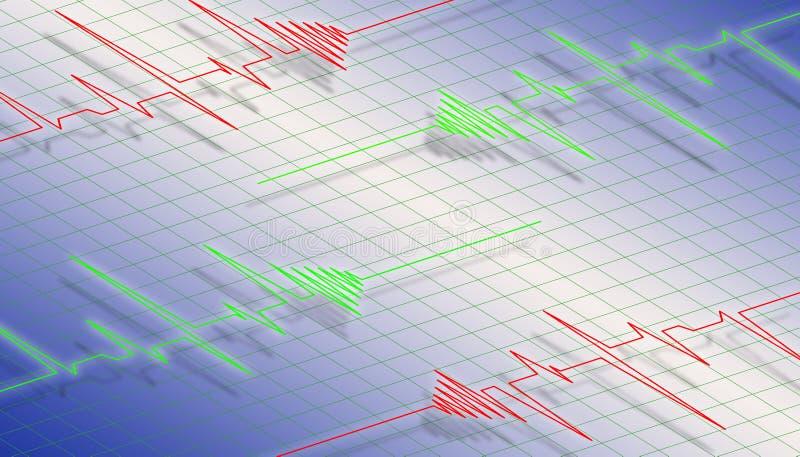 Onda del cardiograma ilustración del vector