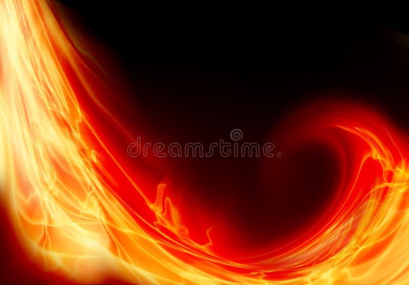 Onda del fuego ilustración del vector