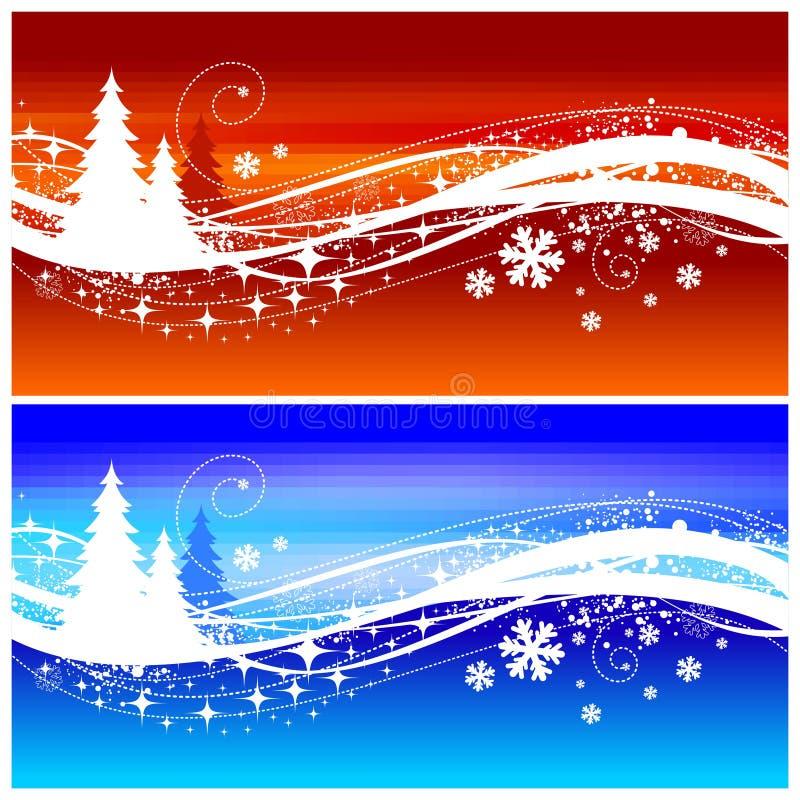 Onda del invierno stock de ilustración