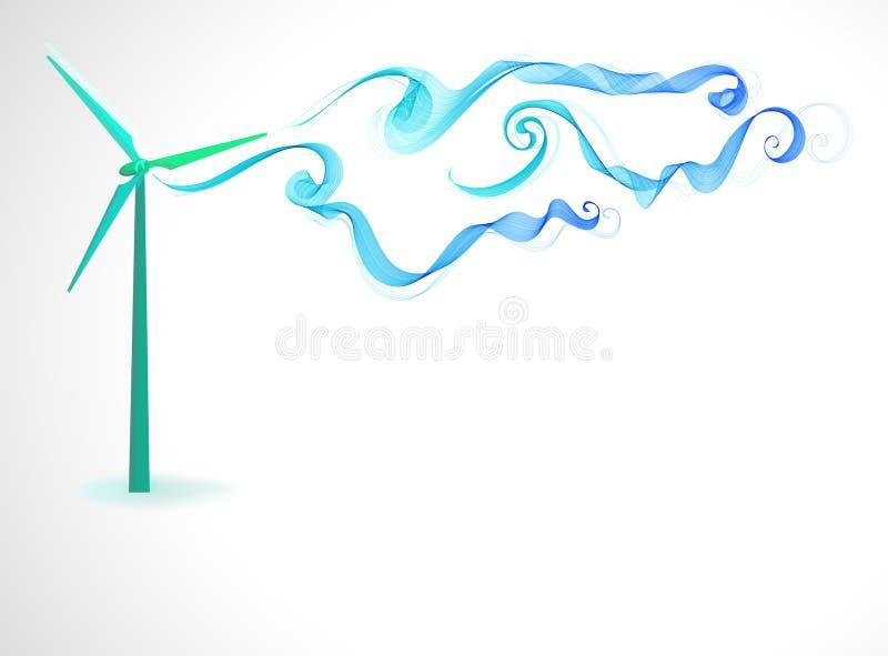 Onda del molino de viento y del extracto stock de ilustración