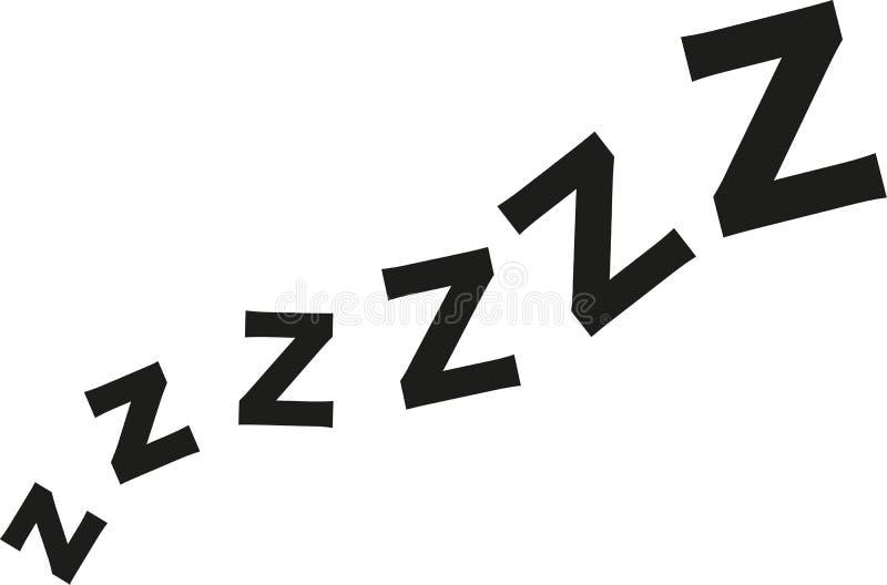 Onda del zzz el dormir ilustración del vector