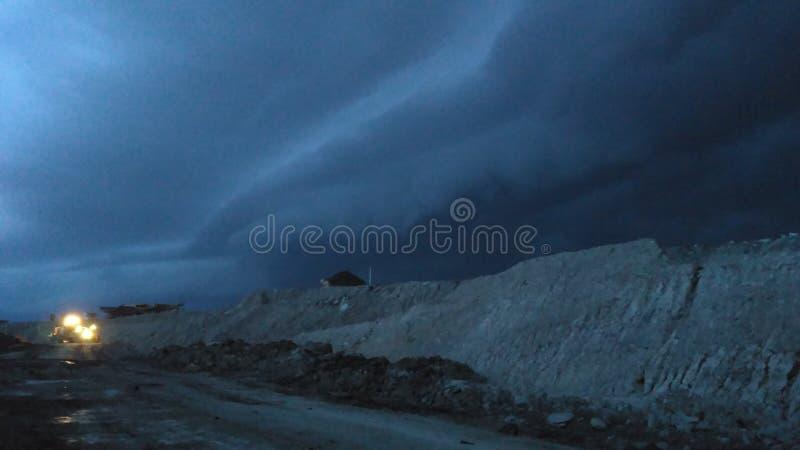 Onda della nuvola fotografia stock