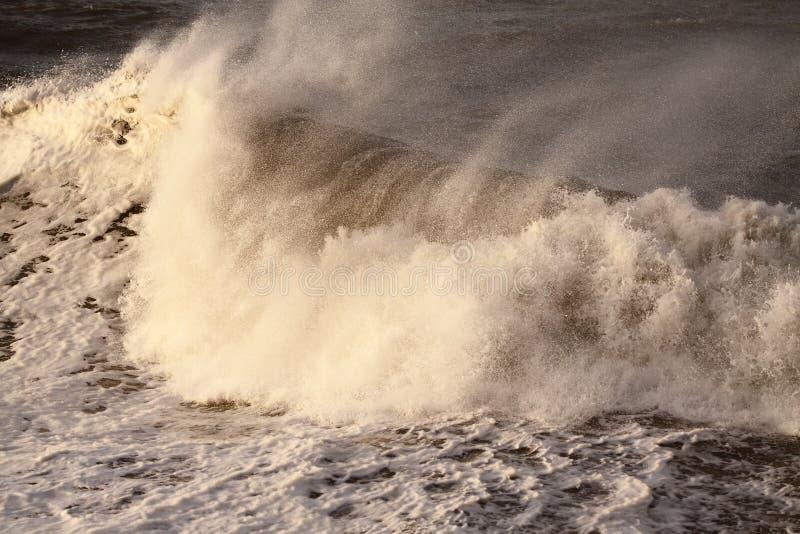 Onda A della tempesta fotografia stock