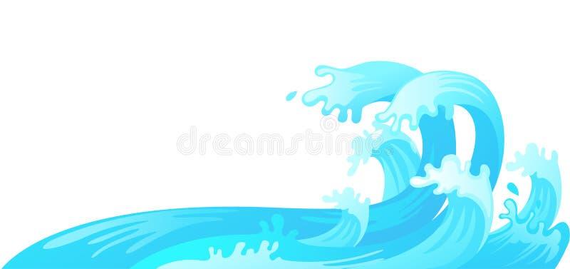 Onda di acqua royalty illustrazione gratis