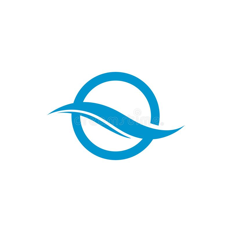 Onda di acqua Logo Template Illustrazione dell'icona di vettore illustrazione di stock