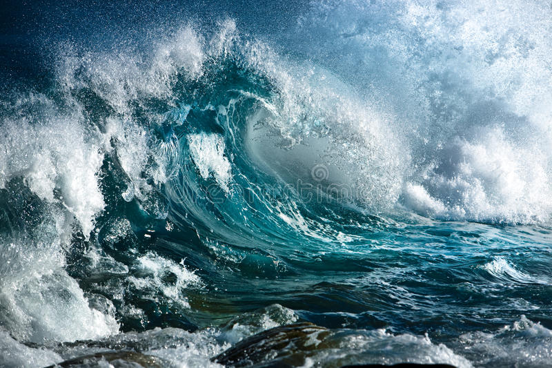 Onda di oceano immagini stock
