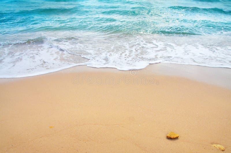 Onda di oceano e spiaggia tropicale immagine stock libera da diritti