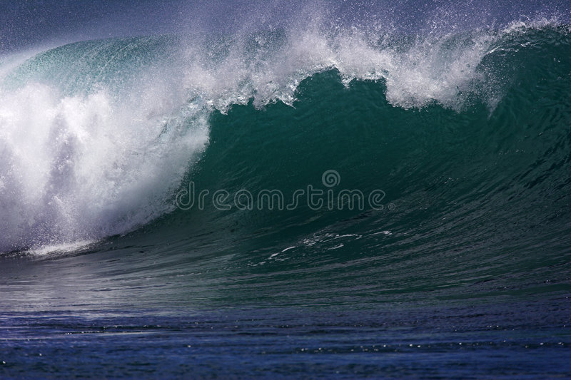 Onda di oceano hawaiana V fotografia stock libera da diritti