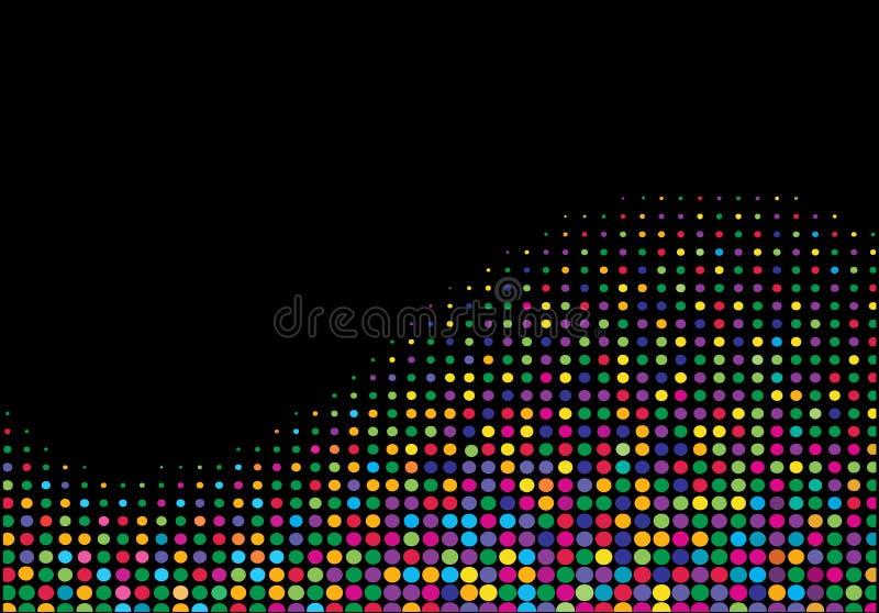 Onda di semitono multicolore illustrazione di stock