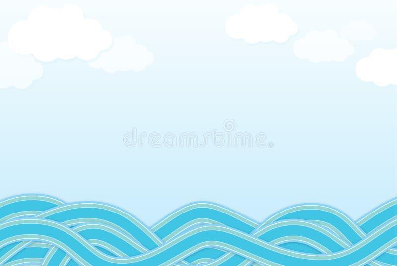 Onda do mar ilustração royalty free