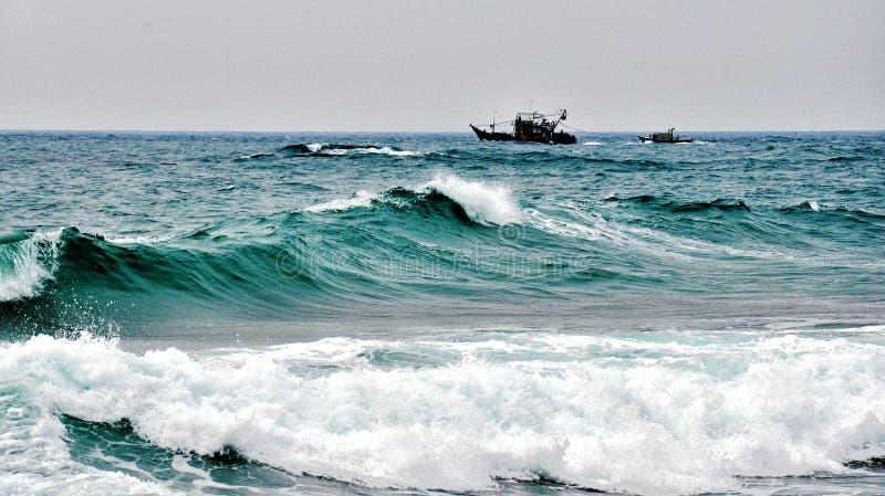 Onda do mar de Bornéu fotos de stock royalty free