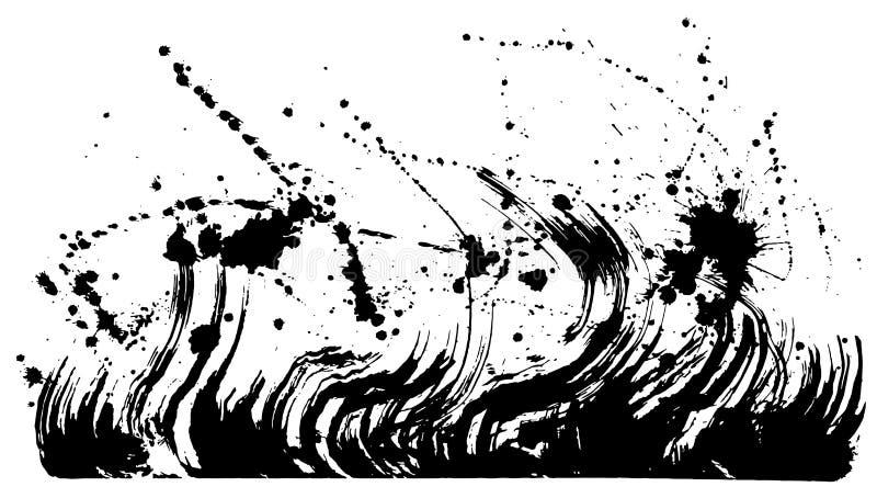 Onda ejemplos del movimiento del cepillo libre illustration