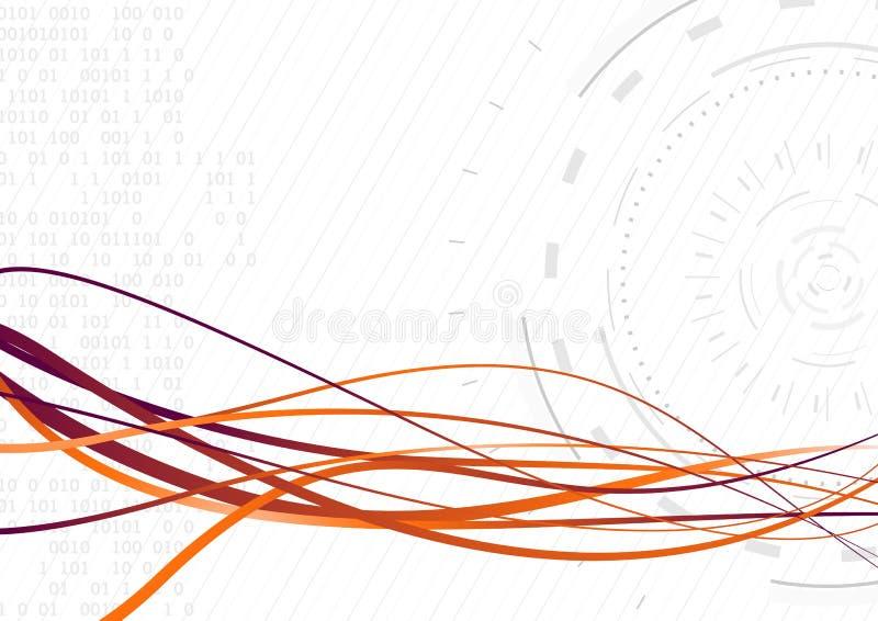 Onda futurista fluída - transferência de dados rápida ilustração royalty free