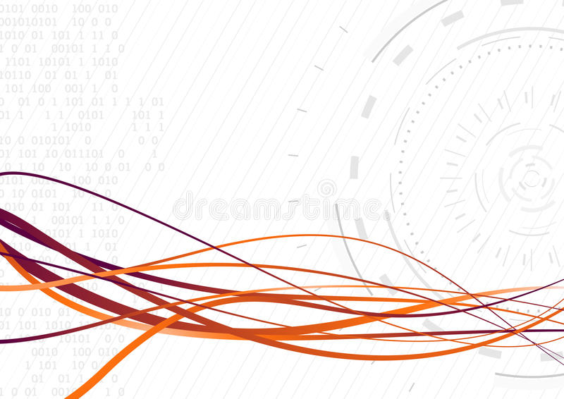 Onda futurista fluida - transferencia de datos rápida libre illustration