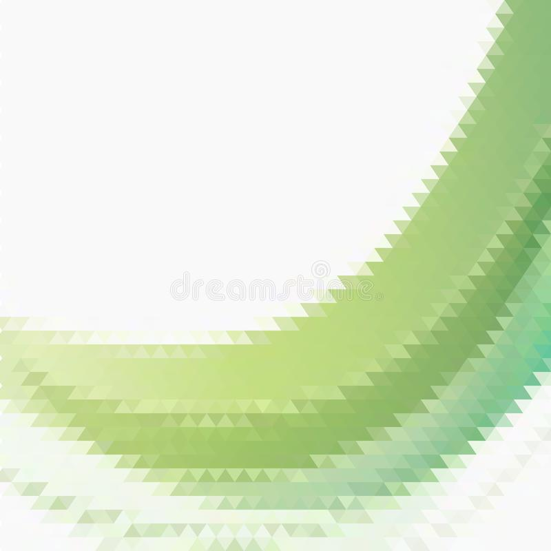 Onda geométrica verde, figuras triangulares fundo do vetor do fbstract ilustração stock