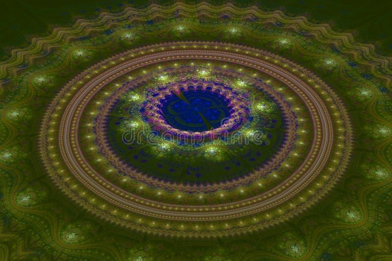 Onda juliana dos círculos concêntricos do Fractal imagem de stock