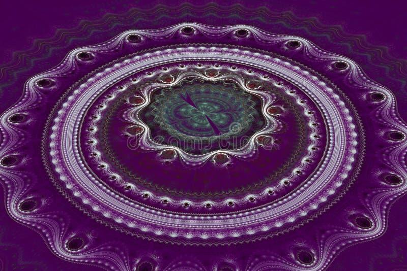 Onda juliana dos círculos concêntricos do Fractal foto de stock royalty free