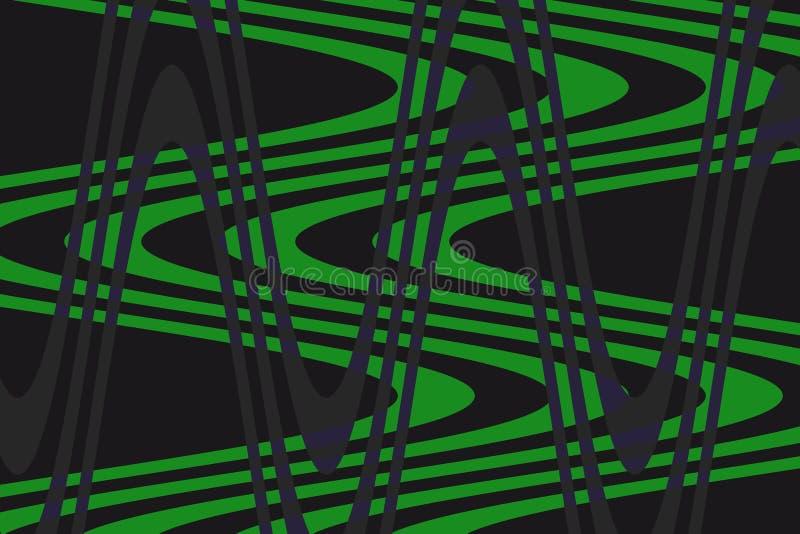 Onda justa do fundo de cores verdes, escuras! Original, excepcional, extraordinário, proeminente, surpreendendo, fundo proeminent ilustração do vetor