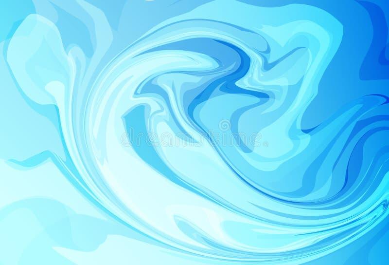Onda líquida, vec textured do fundo do sumário do conceito da ressaca da água ilustração do vetor