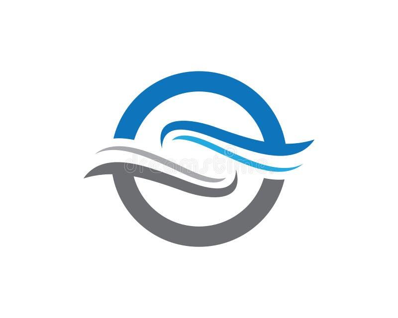Onda Logo Template da letra de S ilustração do vetor