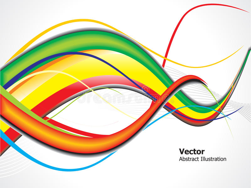 Onda lustrosa colorida abstrata ilustração do vetor