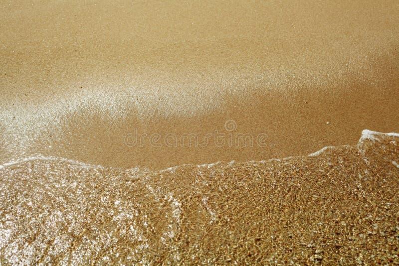 Onda molle sulla spiaggia sabbiosa fotografie stock