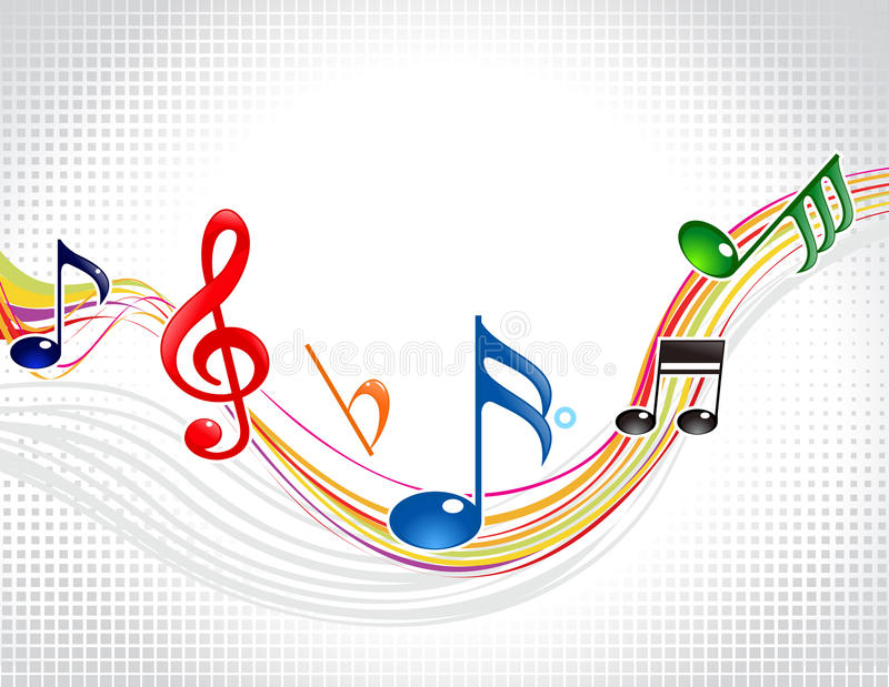 Onda musical colorida abstrata ilustração do vetor