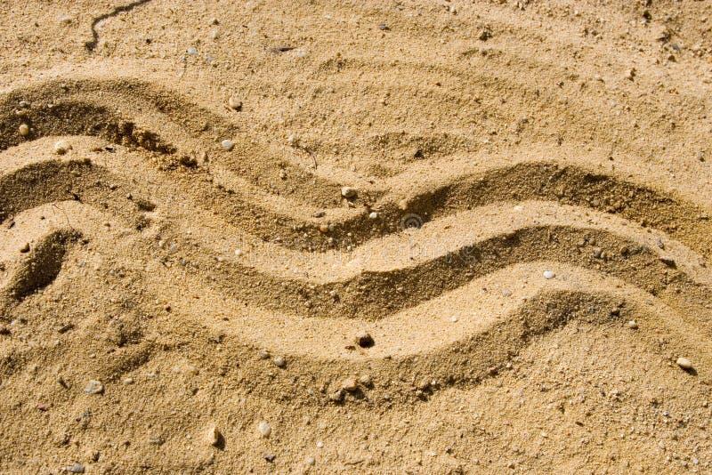 Onda na areia imagens de stock royalty free