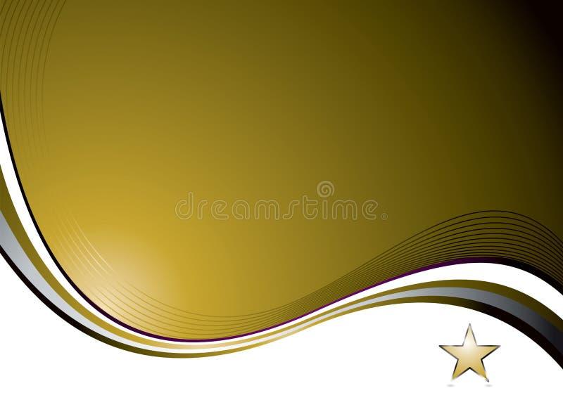 Onda Nat do ouro ilustração royalty free