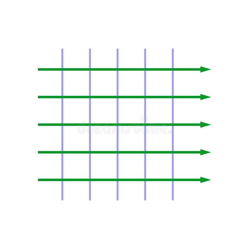 Onda plana da amplitude do igual ilustração stock